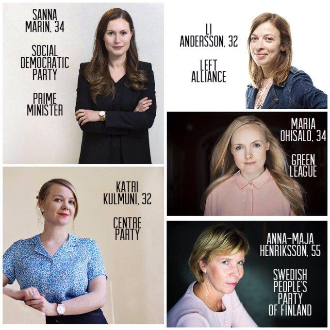 حکومتی کاملا زنانه در فنلاند(