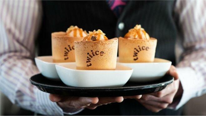 فنجان های خوراکی با طعم وانیل برای مسافران پرواز ایرنیوزیلند