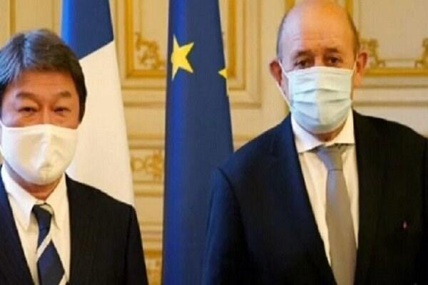 ژاپن و فرانسه برای همکاری در مسائل دریای چین توافق کردند