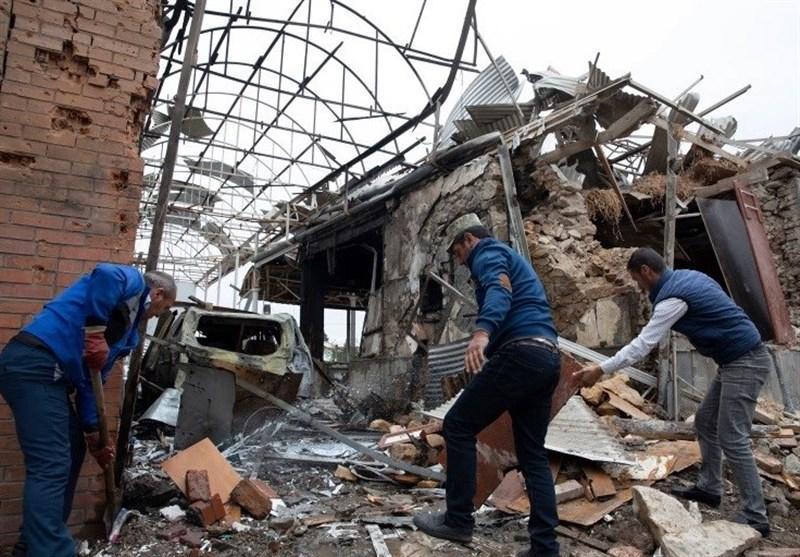 حمله موشکی ارمنستان به دو شهر جمهوری آذربایجان، 20 منزل مسکونی در گنجه تخریب شده است