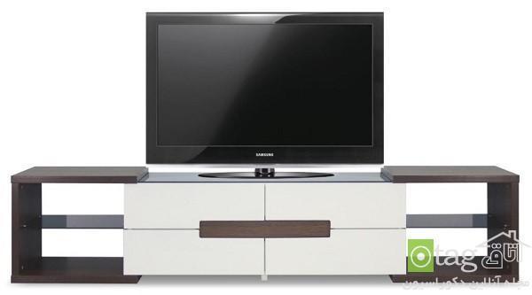 میز تلویزیون LCD مدرن در دکوراسیون نشیمن های شیک و زیبا