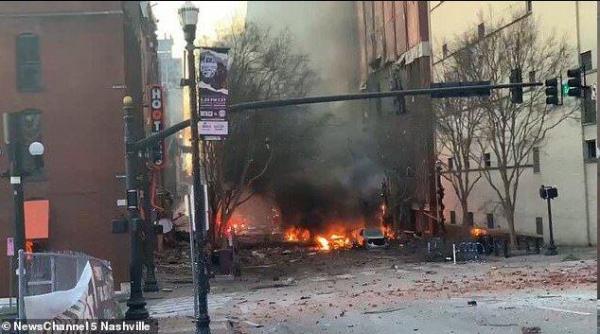 انفجار مهیب در مرکز ایالت تنسی آمریکا