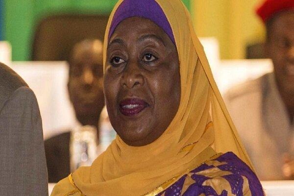 یک زن مسلمان محجبه رئیس جمهور تانزانیا شد